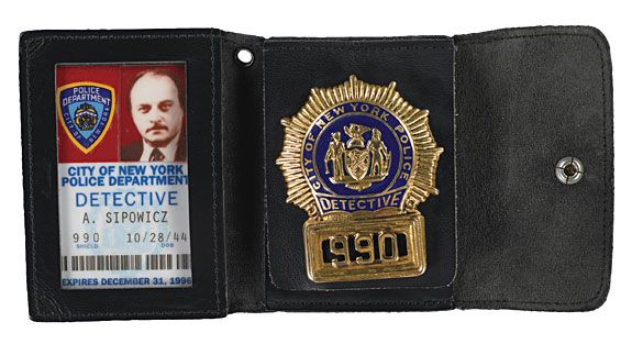 NYPD BLUES sipowicz badge
