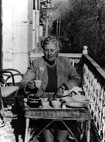 agatha with tea