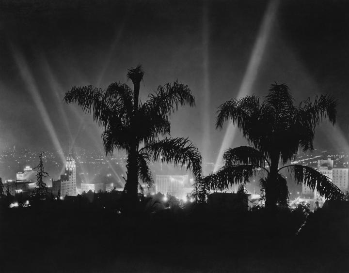 Hollywood At Night Vintage